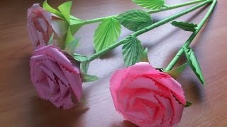 Подарки Своими руками. Как Сделать Оригами Розы Из Бумаги. Букет Роз(Розы из бумаги это отличный подарок близкому человеку, сделанный своими руками, в котором заложена частичк..., 2015-03-05T22:27:21.000Z)