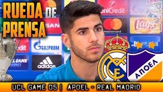 Apoel - Real Madrid Rueda de prensa de MARCO ASENSIO Champions (20/11/2017)