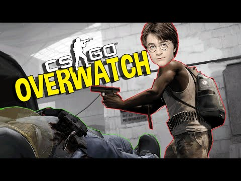 CS:GO - HARRY POTTER HACKER, CHEATING TEAM (OVERWATCH FUNNY MOMENTS)