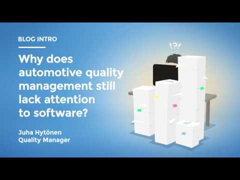 Link Motion blog: Why does automotive quality management still lack attention to software?