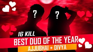 Best Free Fire Duo of The Year? Ajjubhai and Divya Op Gameplay - Garena Free Fire