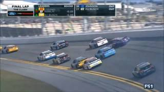 Monster Energy NASCAR Cup Series 2017 The Clash Finish