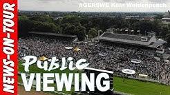 #GERSWE Drohne Shots (4k) 20.000 Zuschauer @Poldis Public Viewing Galopprennbahn Köln Weidenpesch
