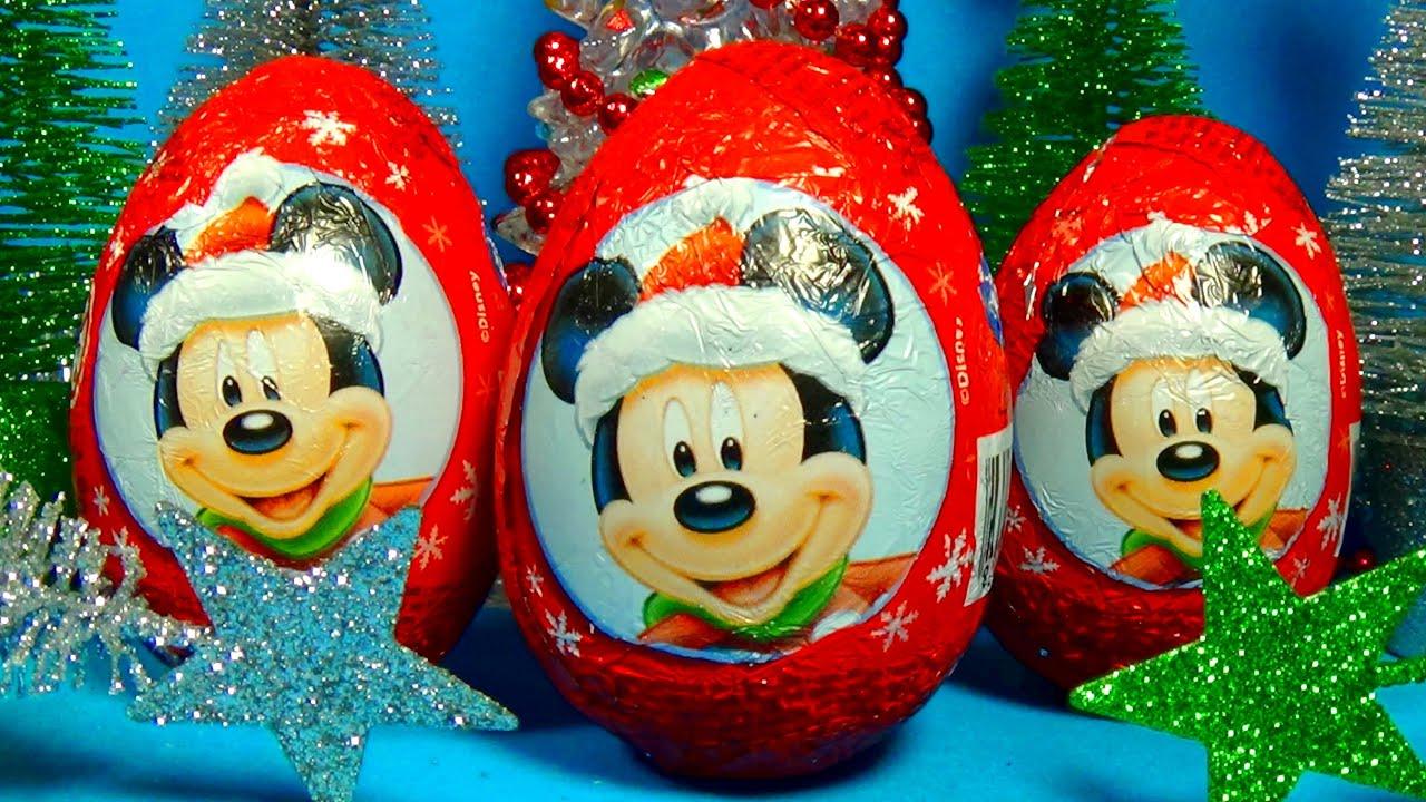 Christmas Surprise Eggs Disney Mickey Mouse Zaini Eggs Surprise Christmas  For Babies Mymilliontv  Youtube