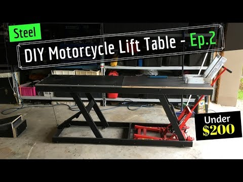 DIY Motorcycle Hydraulic Lift Table - From Old Shelving - Ep 2