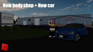New body shop + new car in Greenville! - Roblox