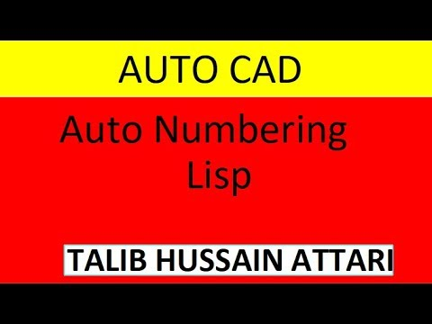 Auto Numbering With Lisp
