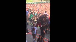 Travis Scott @ Lollapalooza Riot 8/1/2015 (View from Perry's backstage)