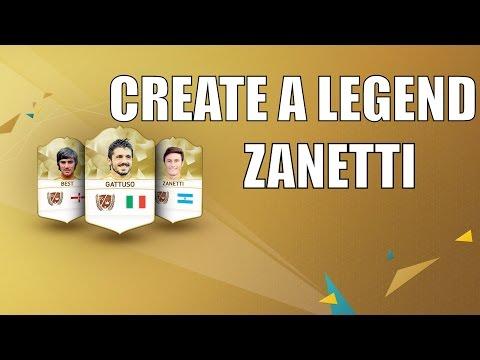 FIFA 16 Create a legend - Javier Zanetti