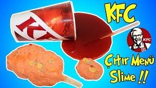 KFC Menü Slime Challenge!! - Kola mı Çıtır Tavuk mu En güzel Slime Hangisi? - Bidünya Oyuncak