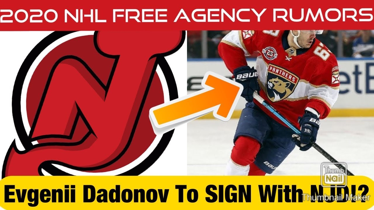 The New Jersey Devils To Sign Evgenii Dadonov In Free Agency 2020 Nhl Free Agency Rumors Youtube