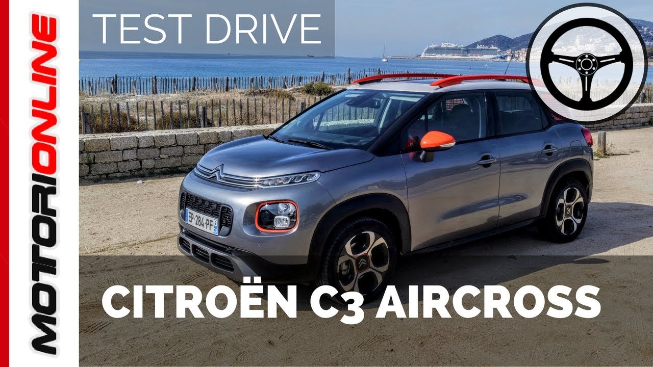 citroen c3 aircross test drive in anteprima youtube. Black Bedroom Furniture Sets. Home Design Ideas
