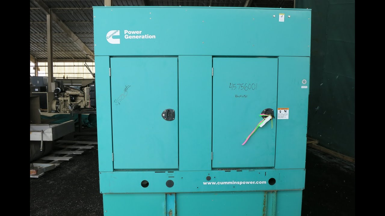 Used Cummins 35 kW standby 30 kW prime sel generator set