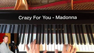Crazy For You - Madonna - Piano Cover