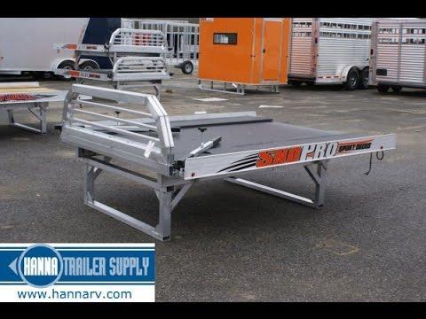 2016 SNOPRO Aluminum Sport Deck (Snowmobile / ATV Hauler) with 11 Foot Ramp, Quad Ply Decking