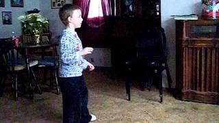 Julian doing Cupid Shuffle