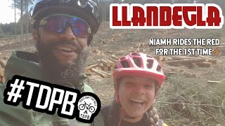 Llandegla with Niamh.Trails have changed. Niamh is improving...🤙🏽