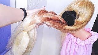 🔝Наращивание волос КАНЕКАЛОНОМ ! Длинные волосы за 5 $. Kanekalon Heir Extension. Long hair for 5 $
