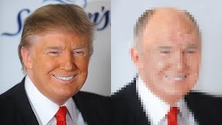 Donald Trump Photoshop Makeover - Removing Hair & Tan
