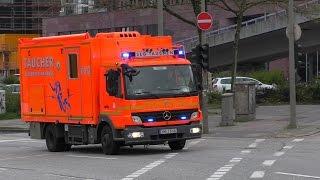 [Ponton droht zu sinken] (THWAM) Einsatzstelle+Einsatzfahrten Feuerwehr Hamburg