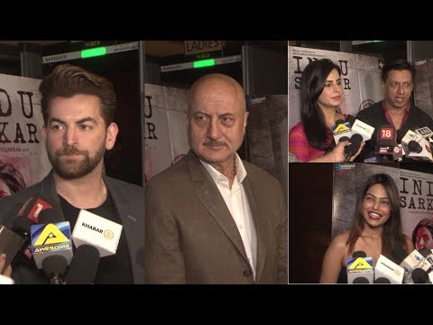 UNCUT : Anupam Kher, Ashutosh Gowariker & More Celebs At  Special Screening Of Film Indu Sarkar