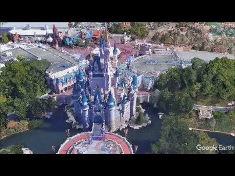 Lovely Google Earth Imagery   Cinderella Castle (Magic Kingdom   Walt Disney World)