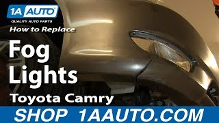 How To Install Fix Broken Fog Light 2005-06 Toyota Camry