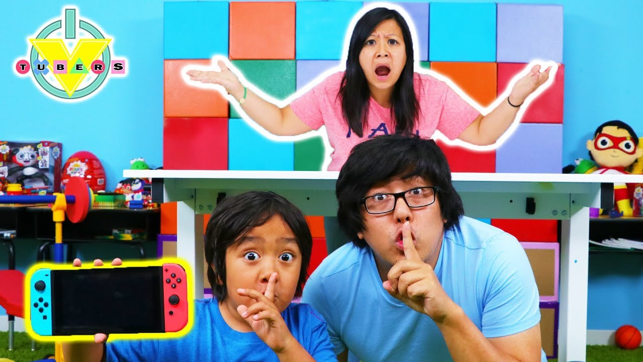 Download MOM STOLE RYAN'S VIDEO GAMES ! Ryan's Mommy hides video games from Ryan & Daddy!