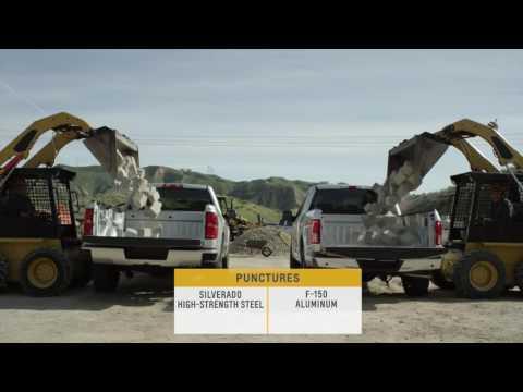 Пикапы Chevrolet Silverado и Ford F-150, проверка на ударопрочность