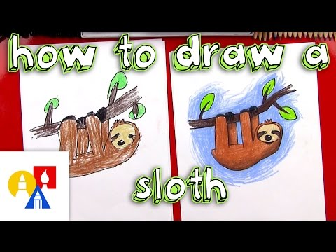 How To Draw A Cartoon Sloth