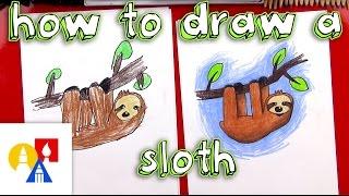Wie Zeichnet Man Einen Cartoon Faultier