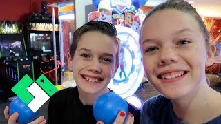 Brother vs Sister Arcade Challenge! | Clintus.tv