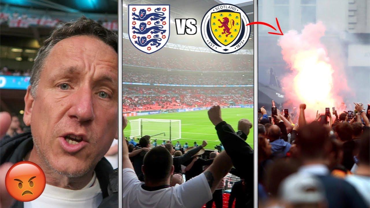 CHAOS AT WEMBLEY FOR ENGLAND vs SCOTLAND