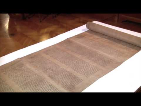 Raw: Oldest Known Torah Scroll Displayed