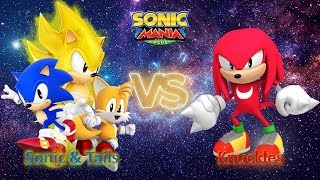 Sonic Mania Plus (PC) Mod Part 27_ Sonic and Tails VS Knuckles (1080p60fps)
