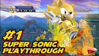 Sonic 4 Episode 2 Super Sonic Playthrough - w/commentary Part 1