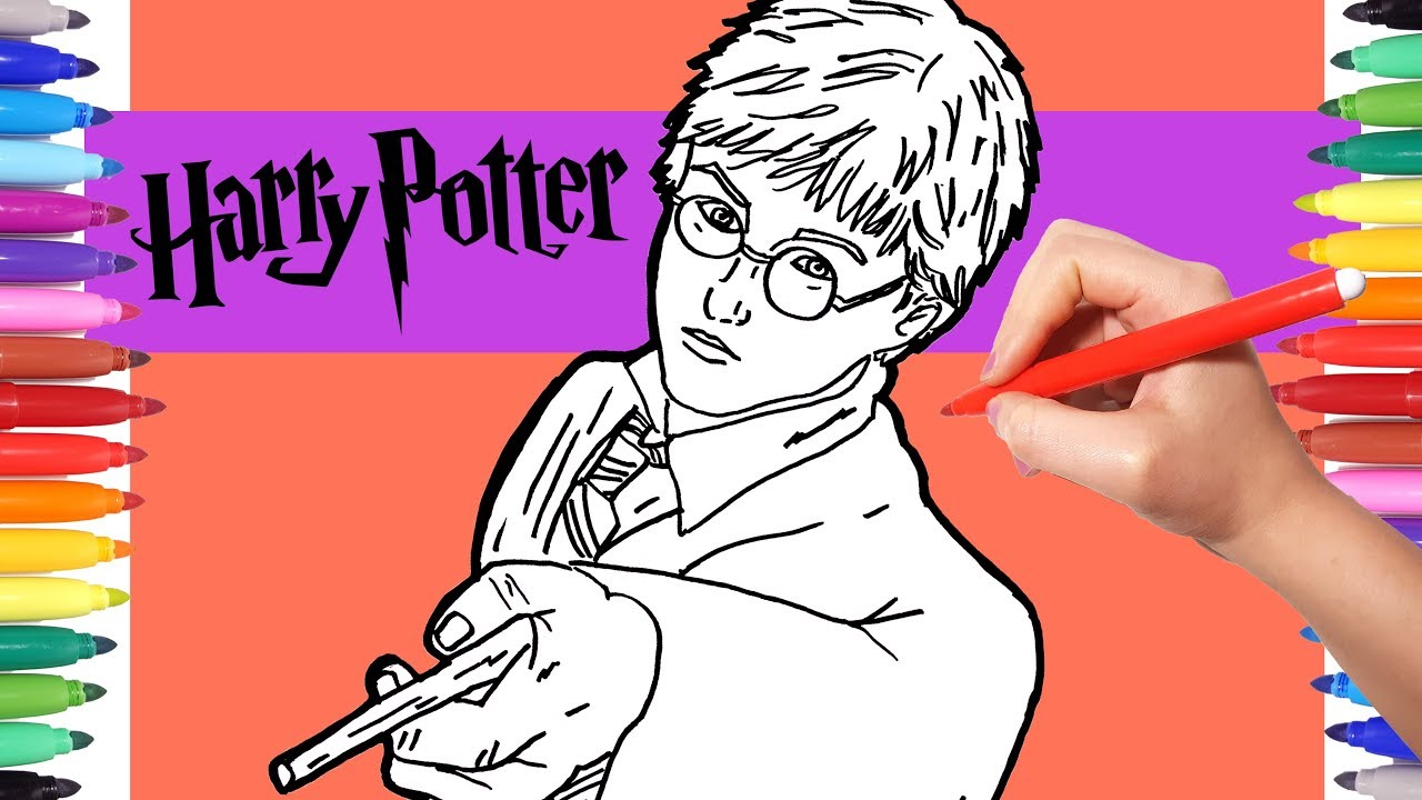 Harry Potter Coloring Pages Watch How to Draw Harry