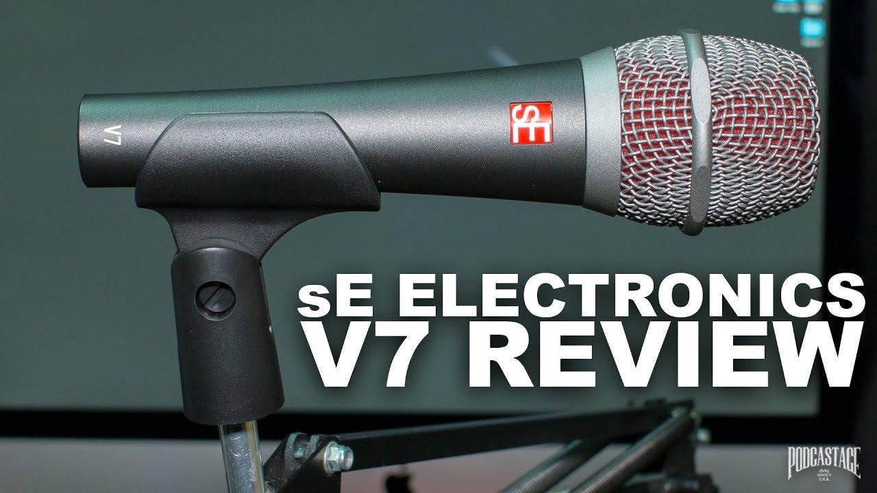 se electronics v7 dynamic mic review test youtube. Black Bedroom Furniture Sets. Home Design Ideas