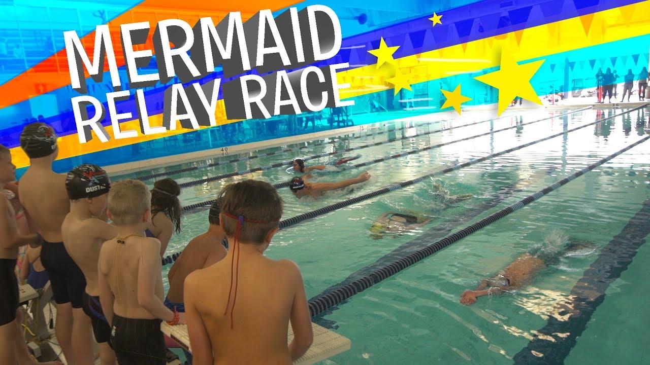 Mermaid Relay Race Fin Fun Tails Youtube Basic Rules