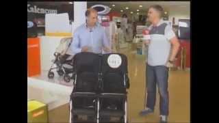 Японская прогулочная коляска Combi  SPAZIO DUO для двойни