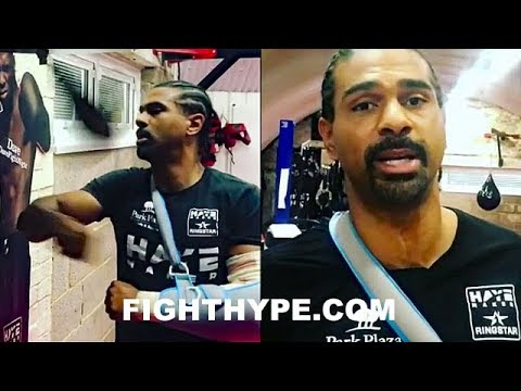 DAVID HAYE ONE-ARMED TRAINING; APOLOGIZES TO FANS FOR BELLEW REMATCH POSTPONEMENT
