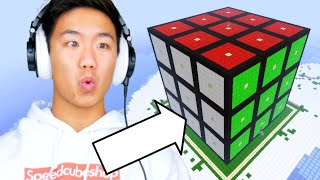 BUILDING A GIANT MINECRAFT RUBIK'S CUBE IN SURVIVAL MODE