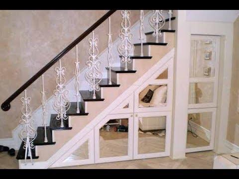 Гардеробная под лестницей в частном доме своими руками