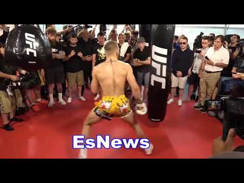 conor mcgregor first reaction to 8oz gloves Robert Byrd  as ref and the judges EsNews Boxing