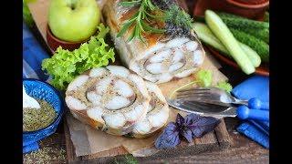 Рулет из скумбрии с яблоками и розмарином  - простая и вкусная закуска