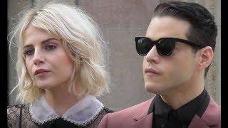 Rami Malek & Lucy Boynton @ Paris 6 march 2018 Fashion Week show Miu Miu #PFW mars