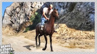 HOW TO GET A HORSE IN GRAND THEFT AUTO 5!!