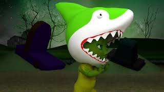 Baby Shark and Zombie Shark Song   Nursery Rhymes & Kids Songs