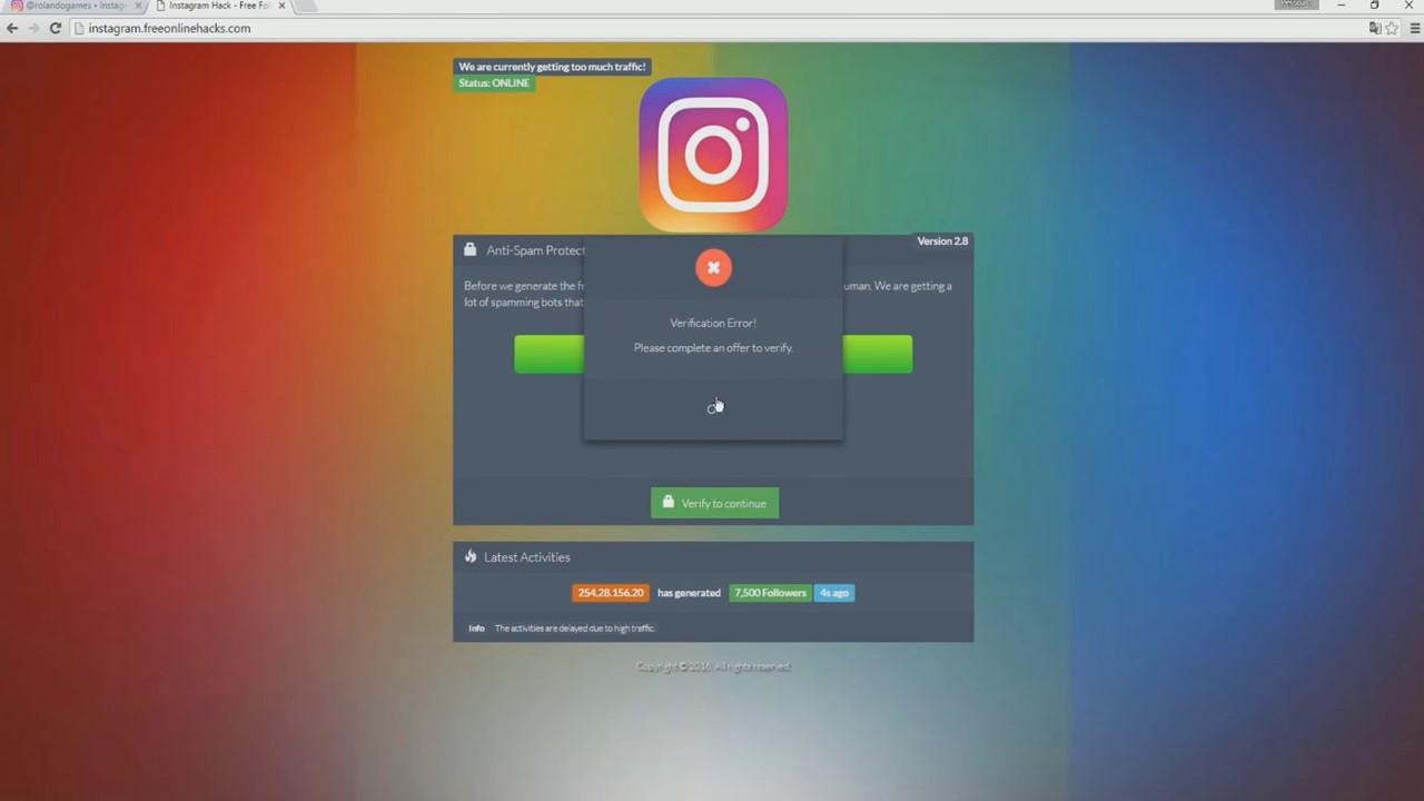 Instagram follower Generator | How to get 100,000+ Followers!