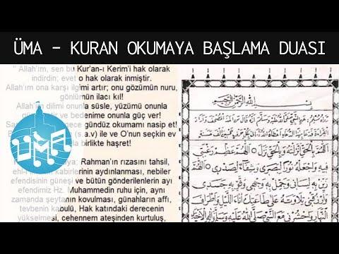 Kuran Okumaya Başlama Duası - Üsküdar Makam Atölyesi